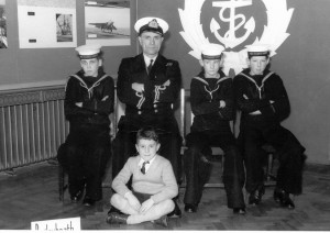 Sea Cadets Me on left looking unhappy
